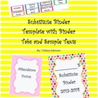 Substitute Binder Template