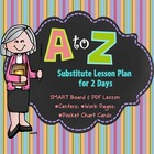 Substitute Day Plans:  ABC Order Sub Day & Smart Board Lesson