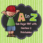 Substitute Day Plans:  ABC Order Sub Days, all materials, PDF