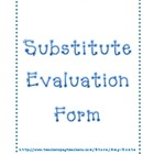 Substitute Evaluation Form