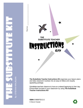 Substitute Teacher Instructions Kit with printable forms