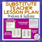 Substitute Teacher Lesson Plan - Prefixes and Suffixes