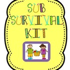 Substitute Teacher Survival Binder