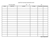 Substitute Teaching Compensation Sheet