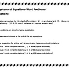 Substitution Differentiated Stations - Word Problems