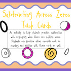 Subtracting Across Zeros Task Cards Activity
