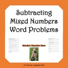 Subtracting Mixed Numbers Word Problems (2 worksheets with