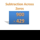 Subtraction Across Zeros PowerPoint
