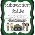 Subtraction Battle Math Center Game