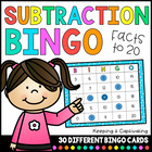 Subtraction Bingo 1-20
