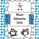 Subtraction Cards-Winter Theme