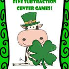 Subtraction Centers for St. Patrick&#039;s - Five Different Strategies