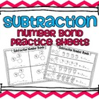 Subtraction Common Core Number Bond Practice Pages