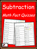 Subtraction Fact Quizzes