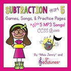 Subtraction From 5 Mega-Pack: Games, Songs &amp; Practice Page