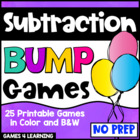 Subtraction Games 25 Subtraction Bump Games