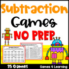 Subtraction Games NO PREP Find the Difference