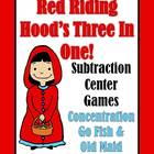 Subtraction Center Games Red Riding Hood Concentration, Go