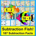Subtraction Magnetic Fish Math Center Activities