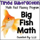 "Subtraction Math Facts Timed Tests-""Big Fish Math"""