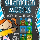 Subtraction Mosaics! Color By Number Math Fact Fun!