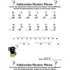 Subtraction Mystery Phrase (with Regrouping)