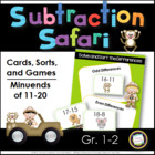 Subtraction Safari Center Activities