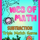 Subtraction: Spiders - Triple Match Game