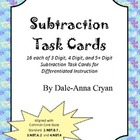 Subtraction of Whole Numbers Task Cards