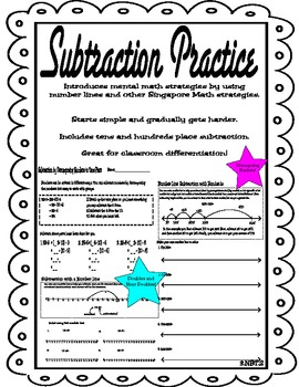 Subtraction to the Hundreds Place with Singapore Methods