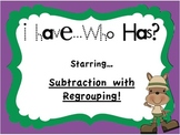 Subtraction with Regrouping I Have...Who Has? Game!