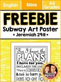 FREEBIE 4 FOLLOWERS - Subway Art for Bible Verse Jeremiah 29:11