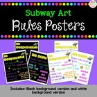 Subway Art - Rules Posters {freebie}