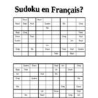 Sudoku en franais  Numbers 1-9