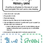 Suffix Memory/Matching Game