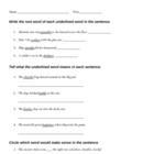 Suffix Review Worksheet