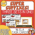 Suffix Task Card Bundle: 96 Cards for Changing the Base Word