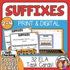 Suffix Task Cards: 32 Sentence Cards for CCS L.2.4 and L.3.4