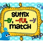 Suffix and Base (Root) Word Match -ful, -ly, -y
