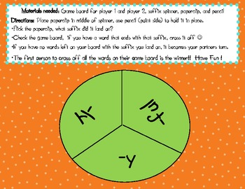 Suffix  - y, -ly, -ful game/Homophone game