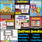 Suffixes Bundle: (1Week Lesson Plan, Powerpoint, worksheet
