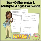 Sum Difference & Multiple Angles Formulas