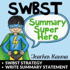 Summarize the Story SWTBS Chart or Story Planner Writer