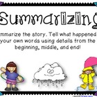 Summarizing Cards and Writing
