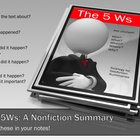 Summarizing Using 5 Ws: Writing a Summary w/ Main Ideas (C