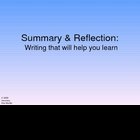 Summary &amp; Reflection