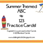 Summer ABC & 123 Cards