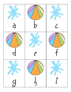 Summer ABC Matching - Uppercase and Lowercase