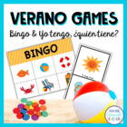Summer Activity Set - Two Games & Word Search {Spanish}