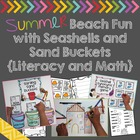 Summer Beach Fun with Seashells and Sand Buckets {Literacy
